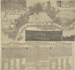 Platte grondt der Verbrande stadt London